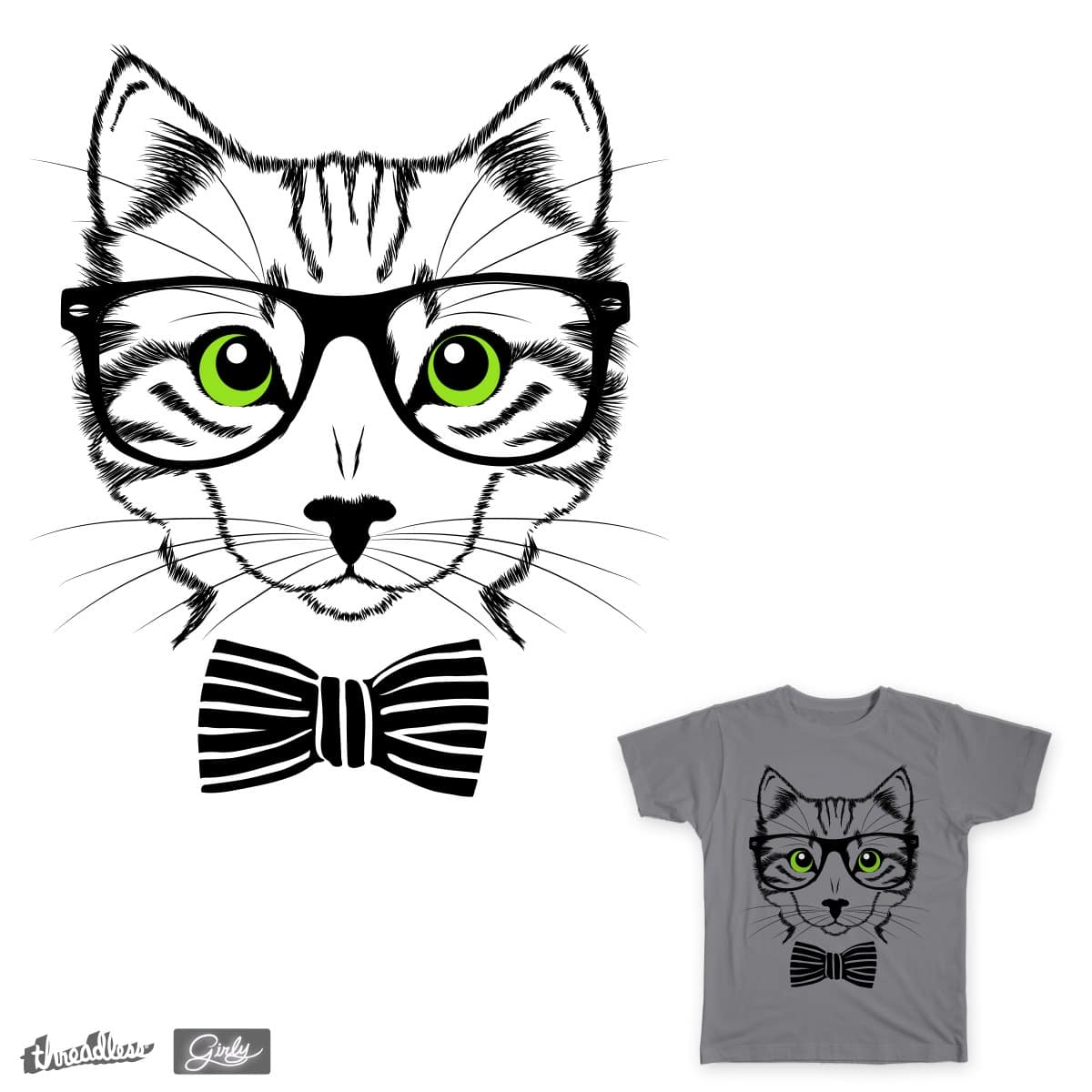 It's hip to be cat by freshlaundry on Threadless
