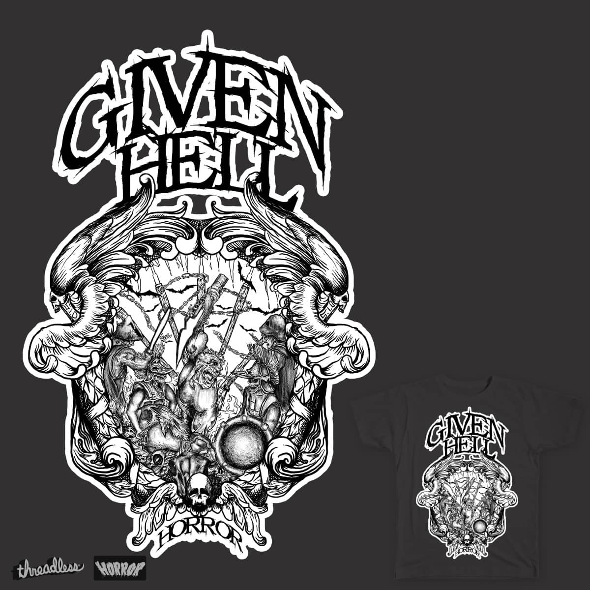given hell by gupikus on Threadless