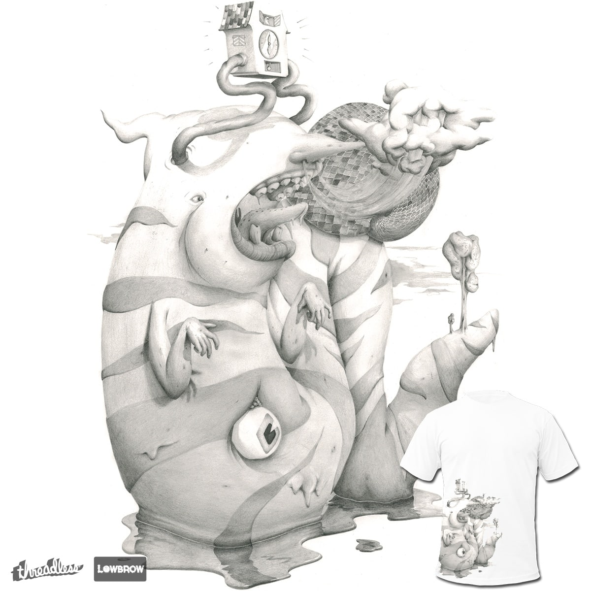 Time is a monster by holmthetooth on Threadless