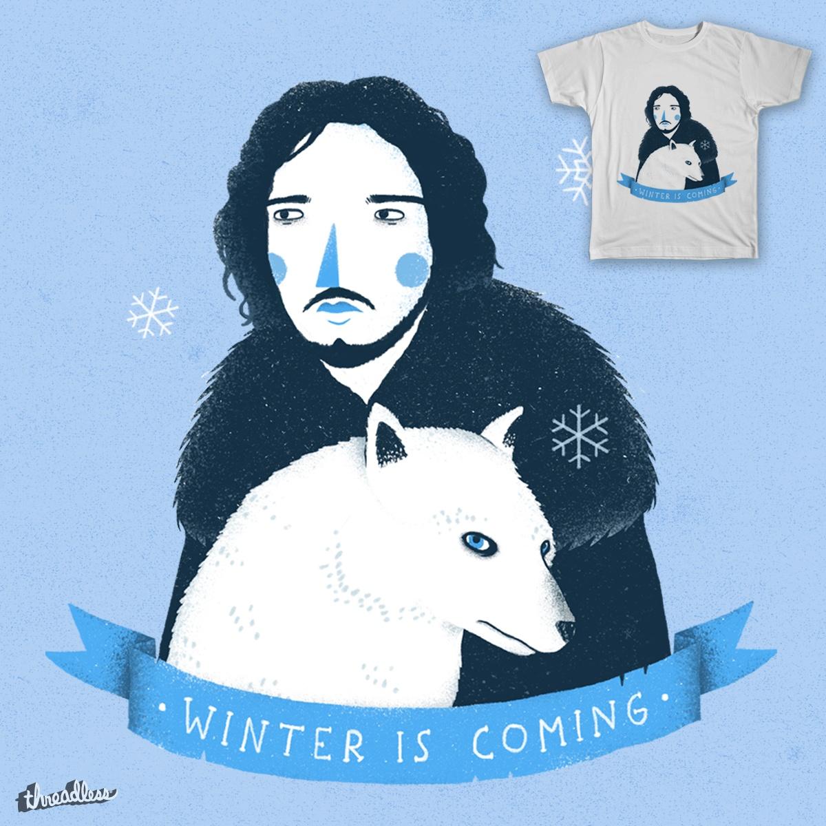 Jon Snow and Ghost by paulagarcia on Threadless