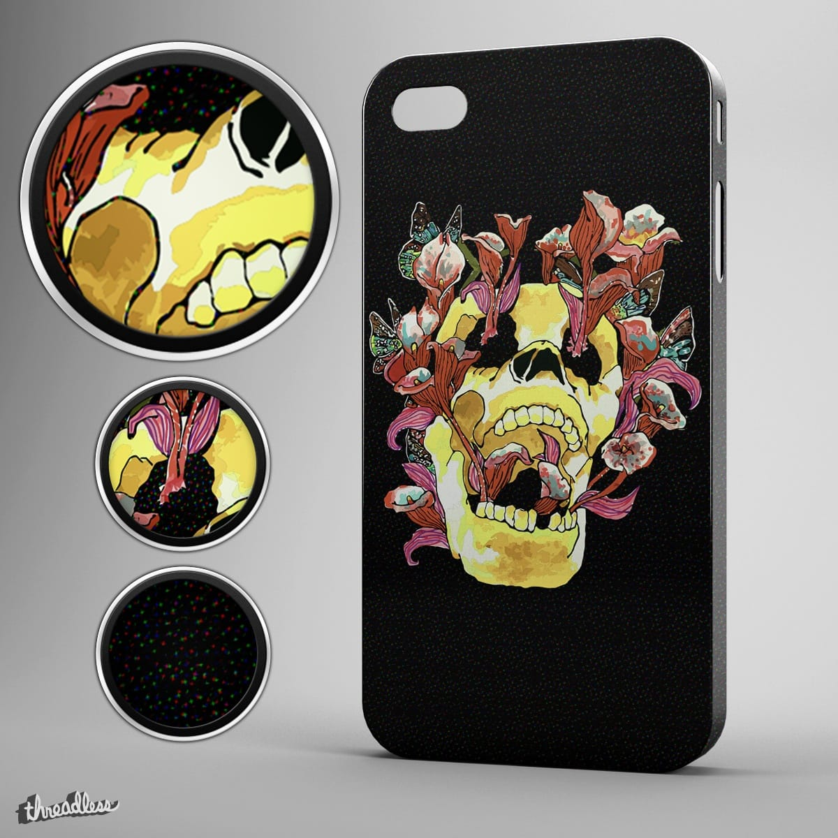 GOTTA HAVE YOU ON MY CASE SKULL by milios.thanasis on Threadless