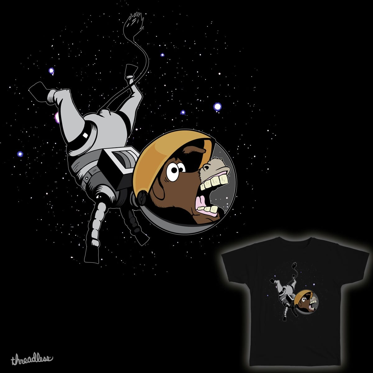 What Do You Call A Donkey in Space? by theimpactpixel on Threadless