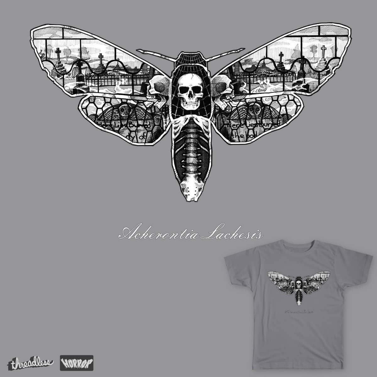 Deathhead Moth by edfetterman on Threadless