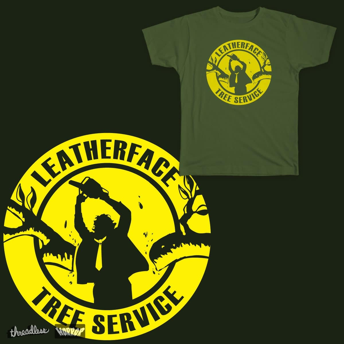 Leatherface Tree Service by Dan Smash on Threadless