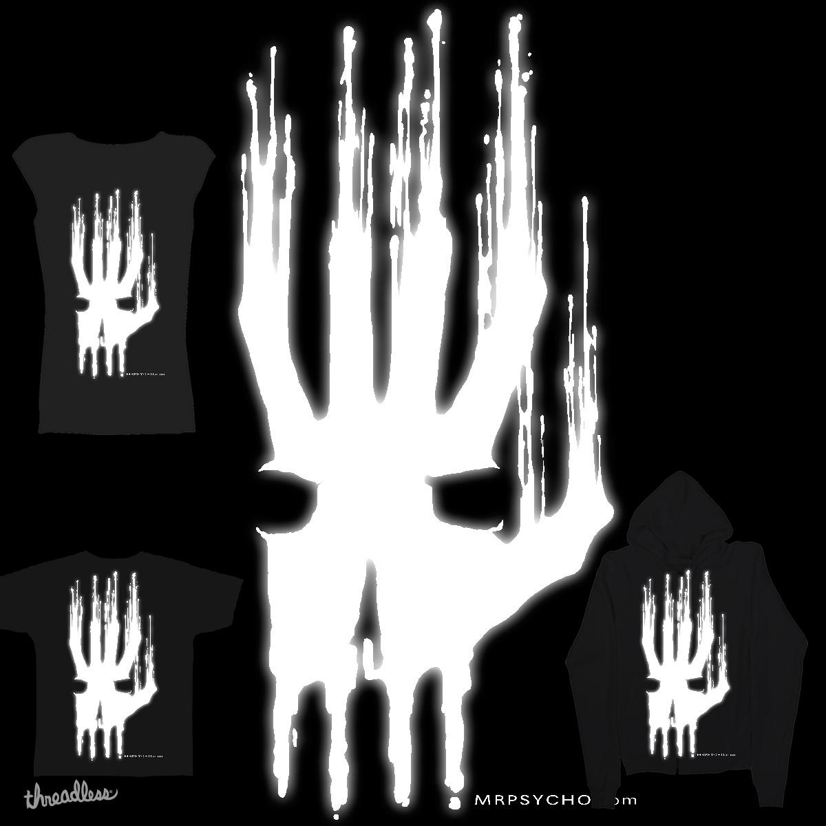 Skull in Hand by mrpsycho_slc on Threadless