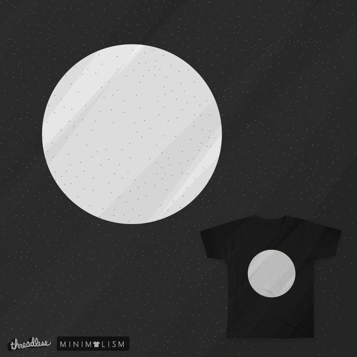 Moon Minimal by Kira_Seiler on Threadless