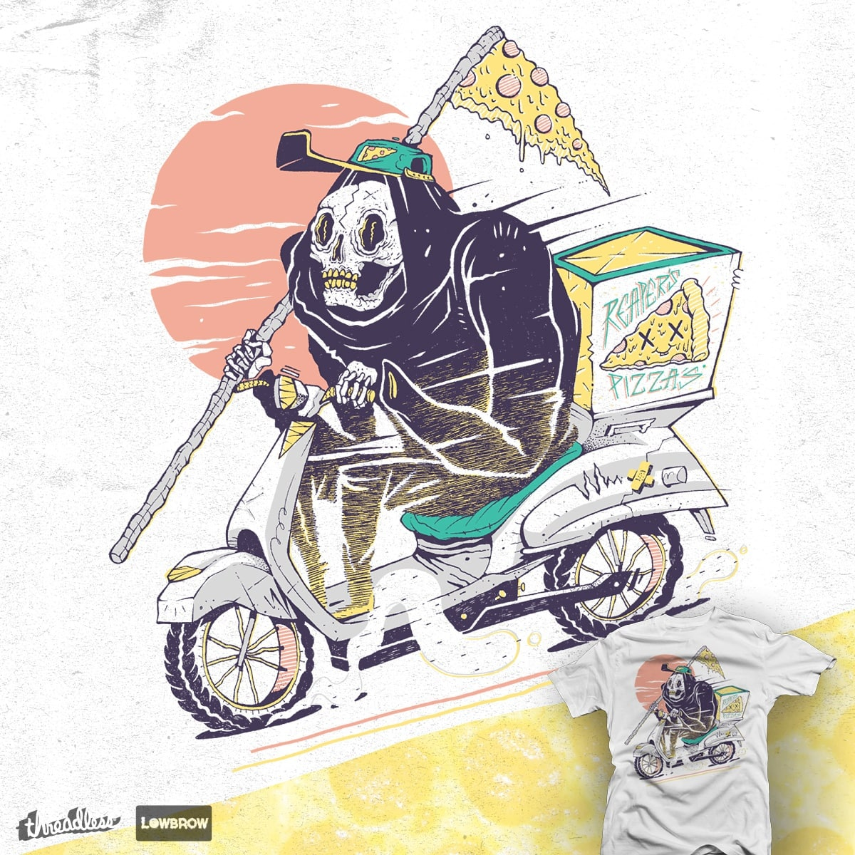 Reaper's Pizza by citizen rifferson on Threadless