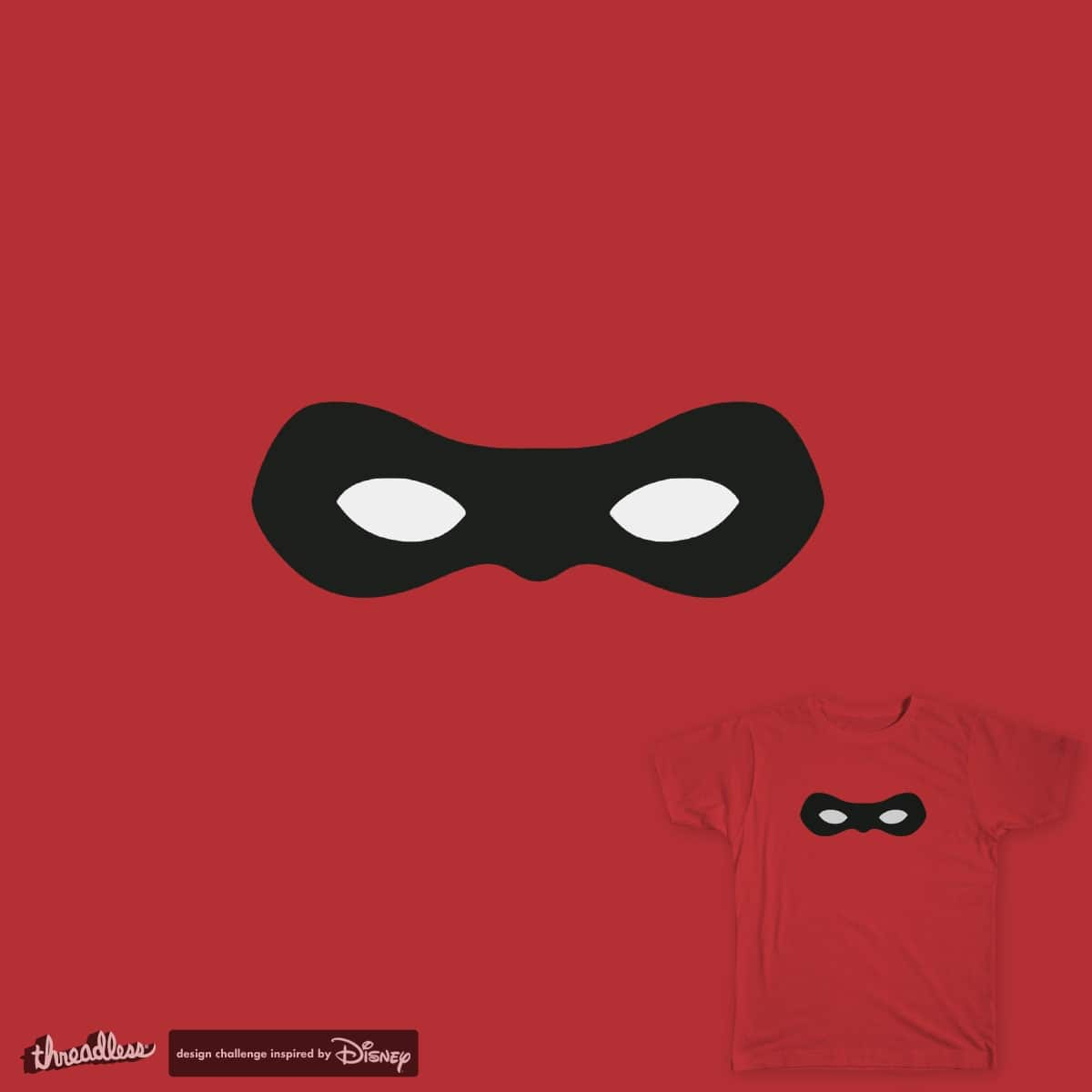 Every Great Hero wears a Mask | Minimal Mr Incredible by highergroundstudio on Threadless