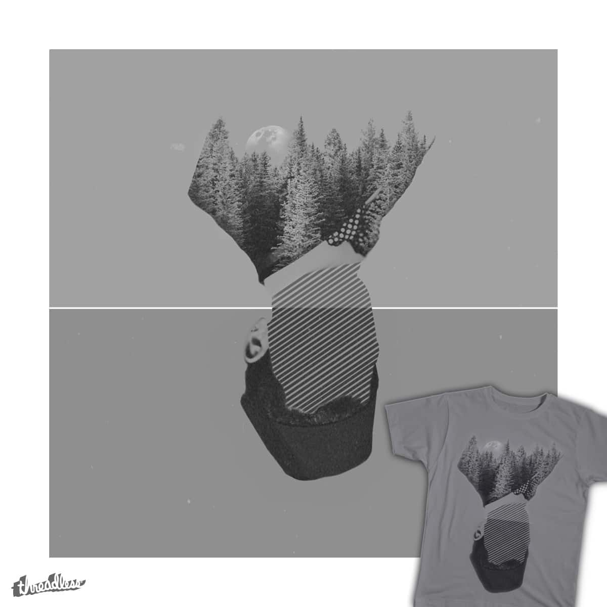 Moon, Forest and Old Man. by nannikun on Threadless