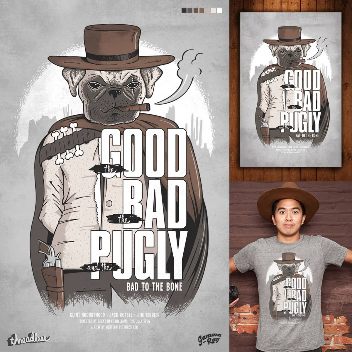 The Good, the Bad and the Pugly by Gamma-Ray on Threadless