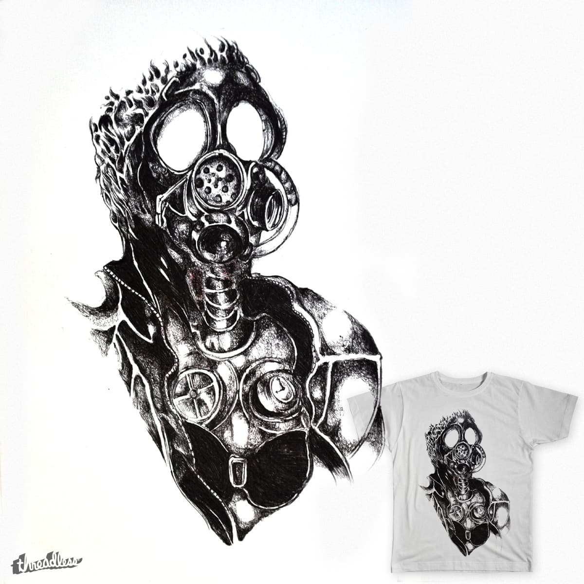 Man in Gas Mask by thatsmytee_1 on Threadless
