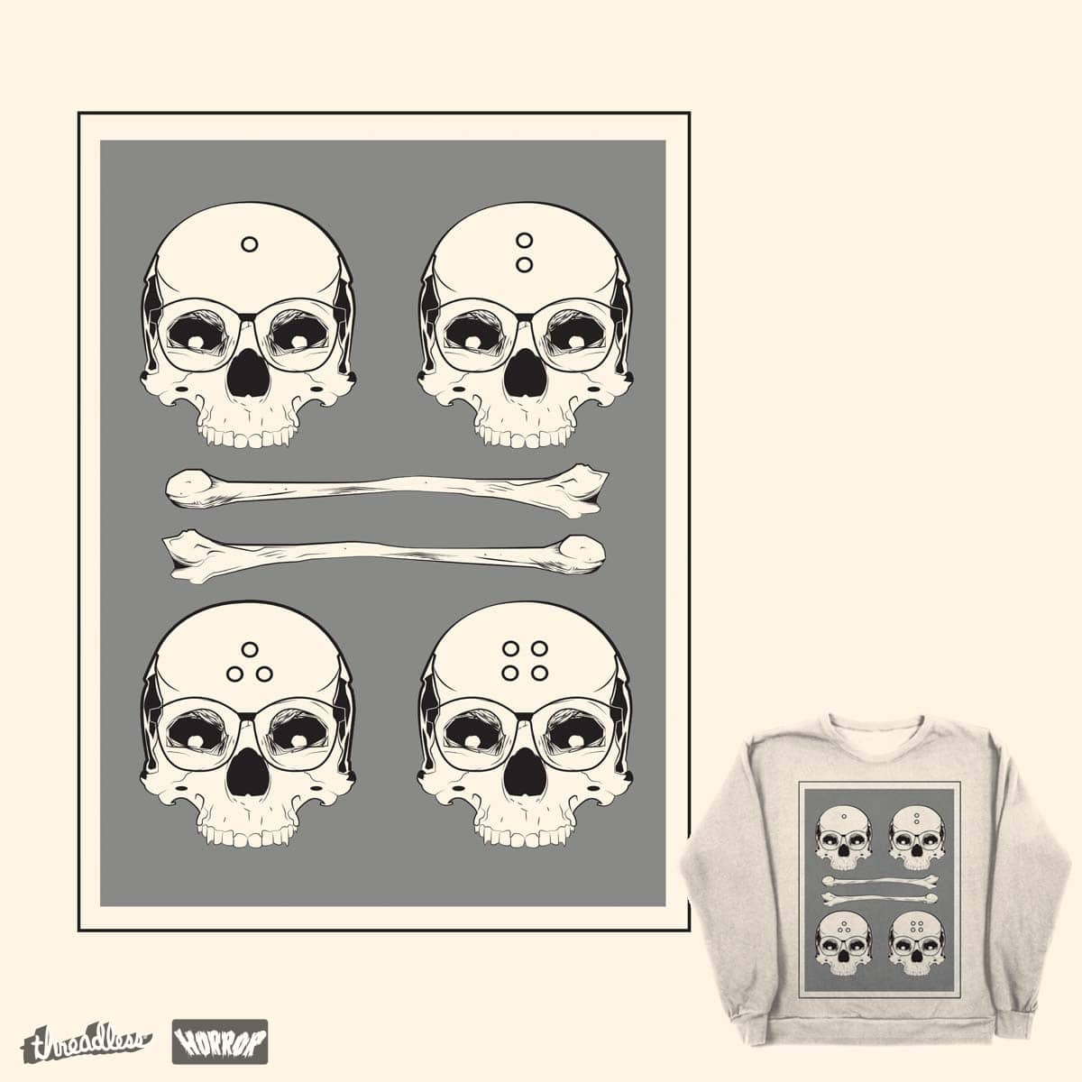 skulls of four by planet-man on Threadless
