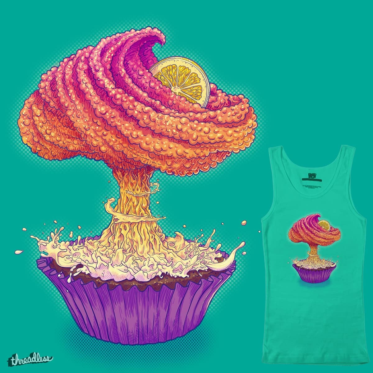Mushroom Cupcake by MvonSchwarze on Threadless