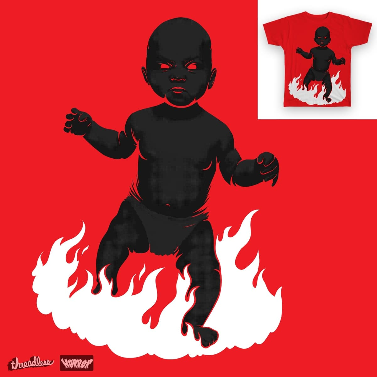 Evil Baby by kentloset on Threadless