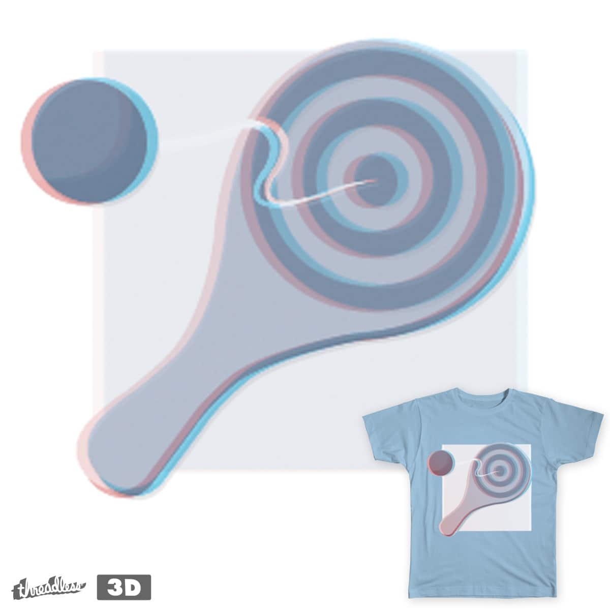 Paddle Ball 3D by mykbit on Threadless