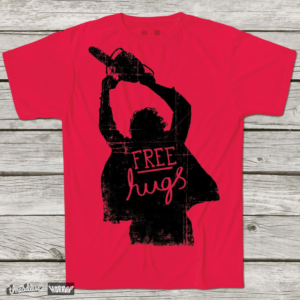Free Hugs by DinoMike on Threadless