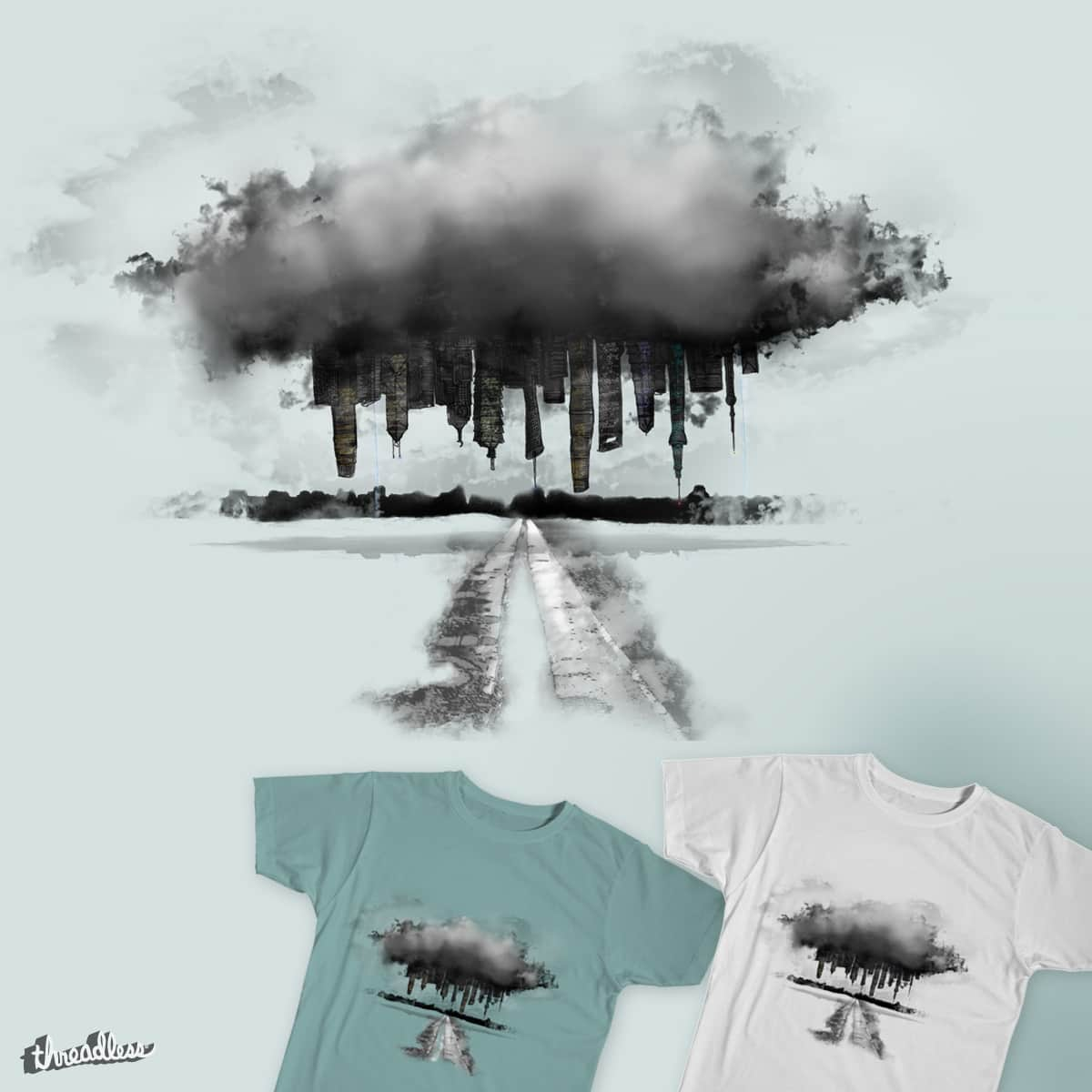 Abduction of a skyline  by Hayden_Duench on Threadless