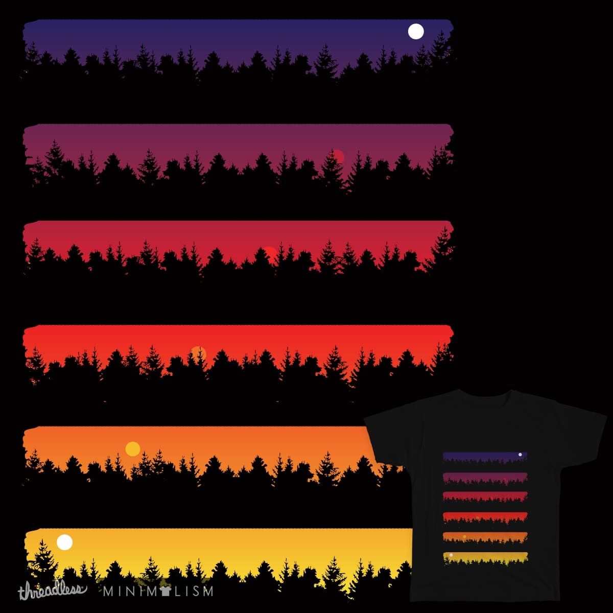 Dawn To Dusk by daletheskater on Threadless