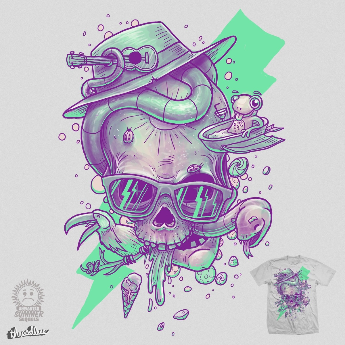 Bleak Summer Skullin' by Demented on Threadless