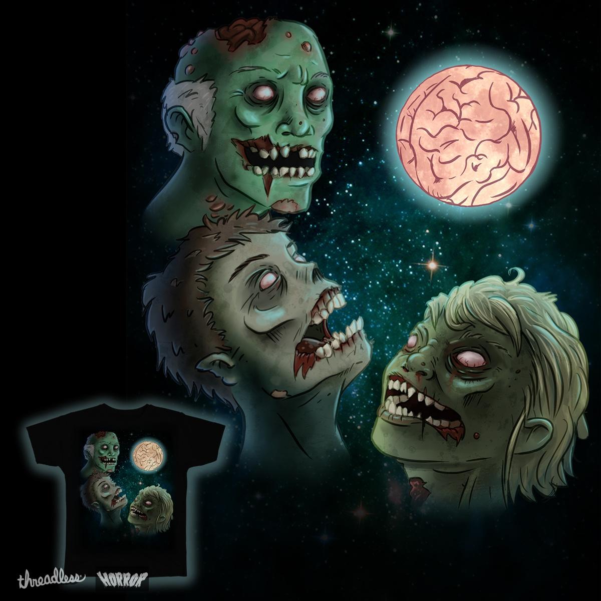 Three Zombie Moon by timothy Jones on Threadless