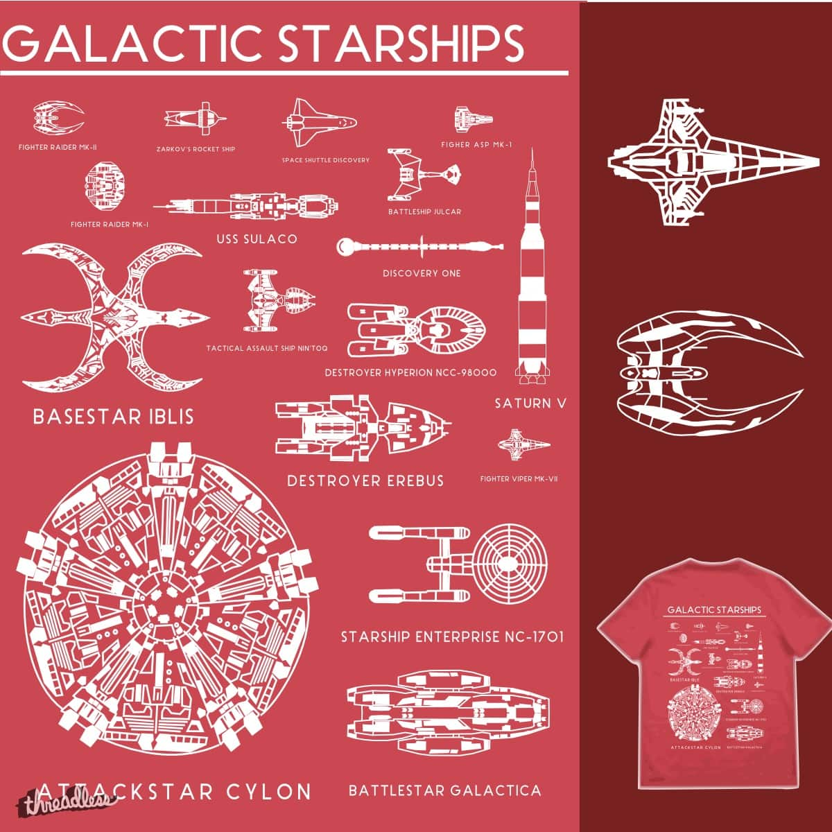 Star Ships by TRYBYK on Threadless
