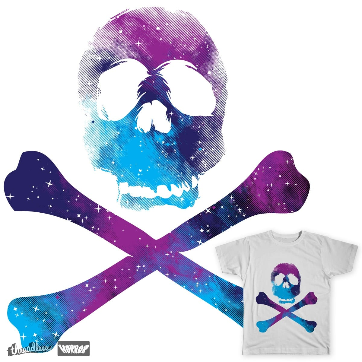 Skullaxy by daletheskater on Threadless