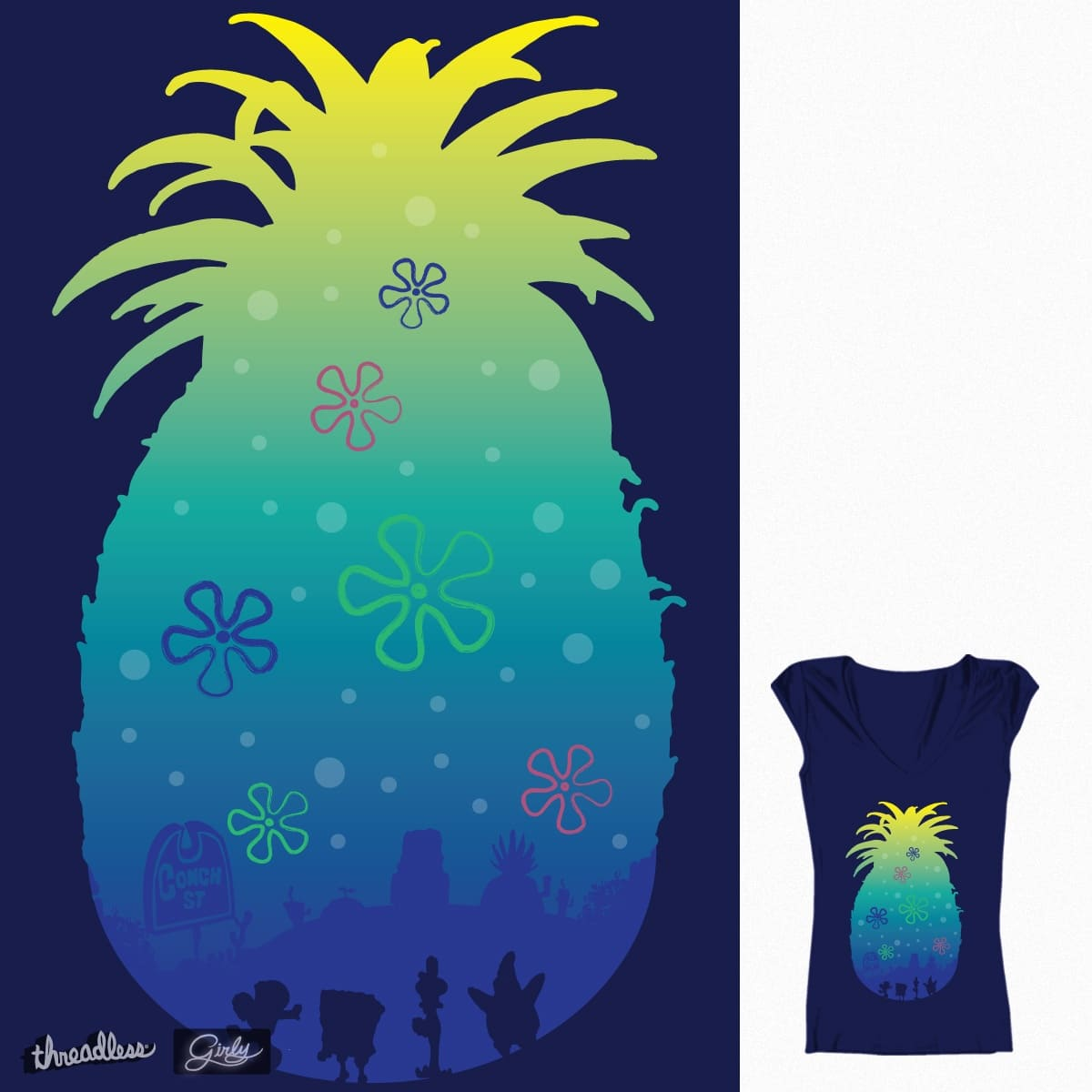 Pineapple Sea by daletheskater on Threadless