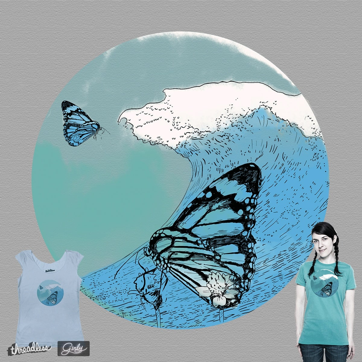 Butterfly Wave by Thomas Orrow on Threadless