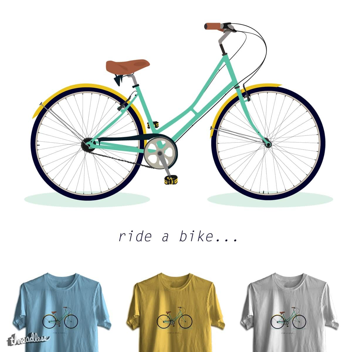 Ride a Bike by lelelude on Threadless