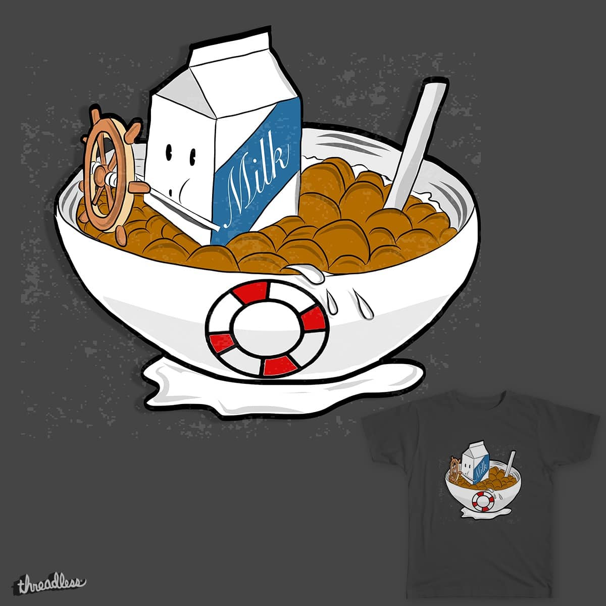 Cereal Bowl Willie by sleftwich1 on Threadless