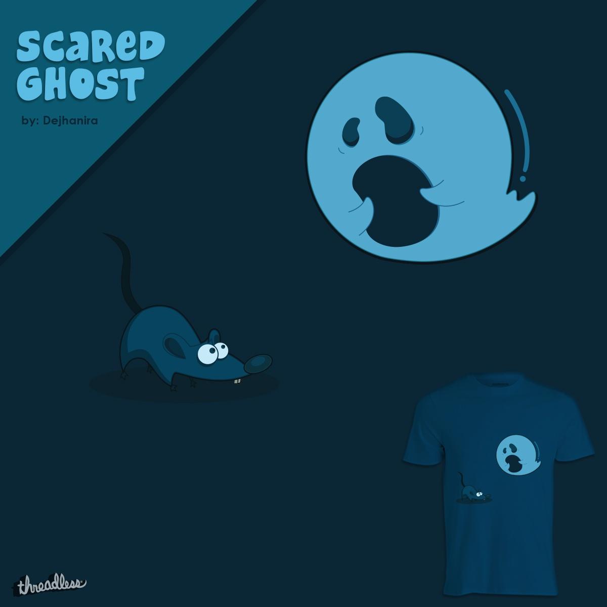 Scared Ghost by dejhanira on Threadless