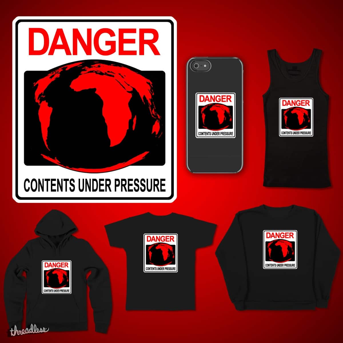 DANGER Contents Under Pressure by Bill-K-Comics on Threadless
