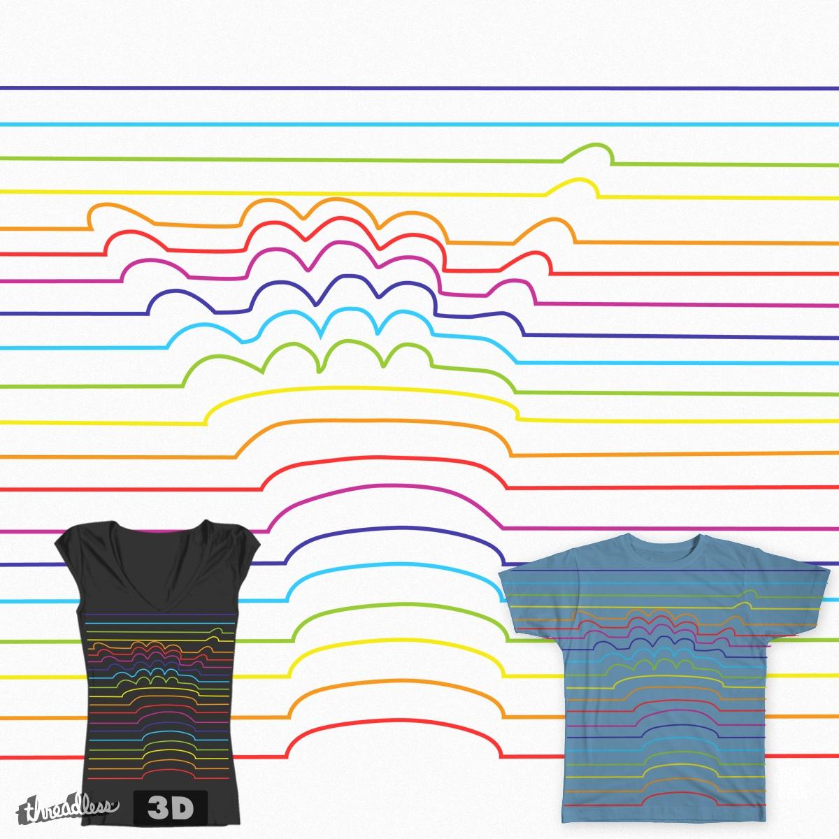 3D Shaka Lines by giovonni808 on Threadless