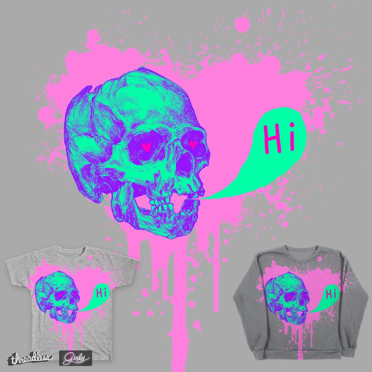Girly deadly love! by pwetard on Threadless