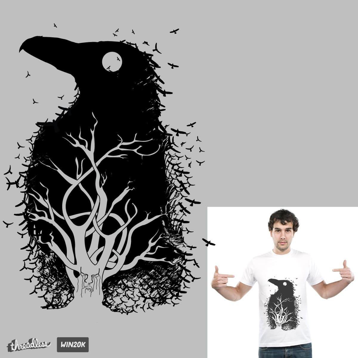 Raven Tree by natarajan_dinesh and alaxander78 on Threadless