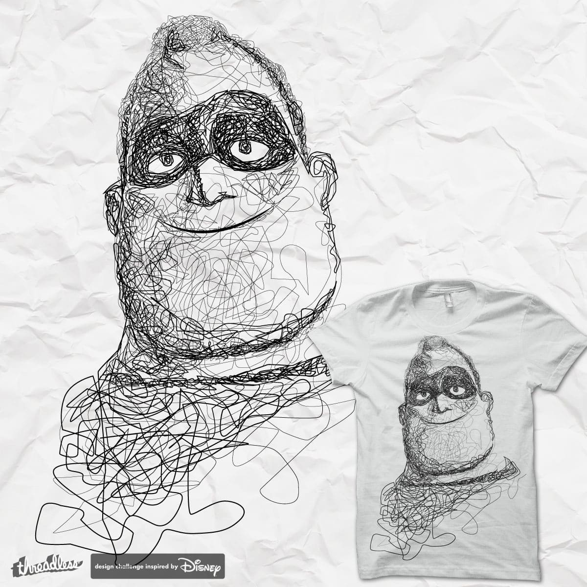 Mr. Incredible (INKredible) by graditio on Threadless