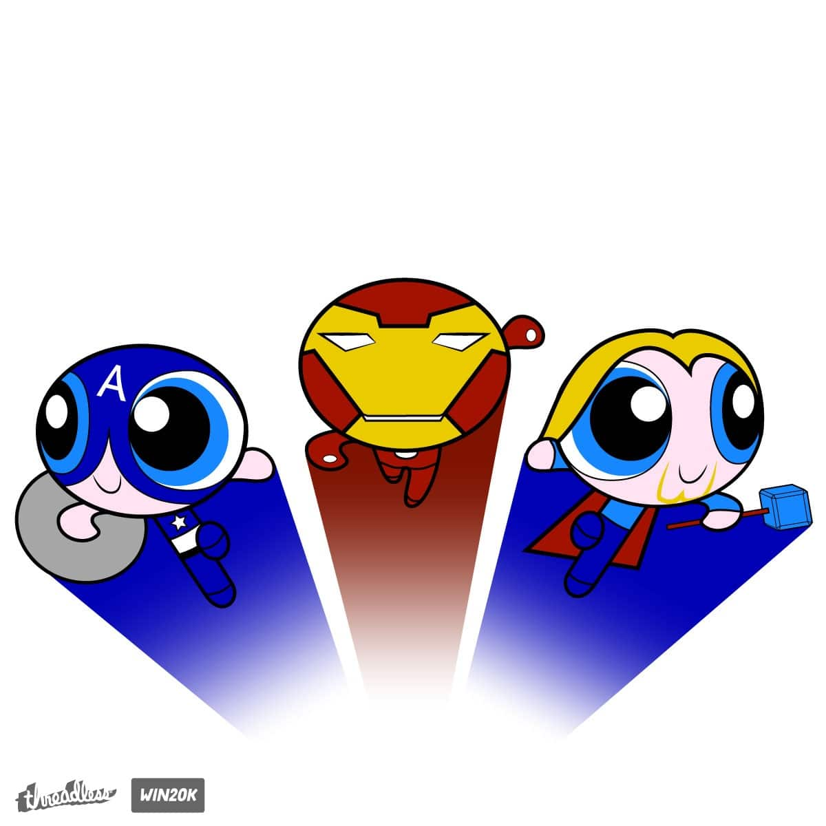 Powerpuff Avengers by byb80 on Threadless