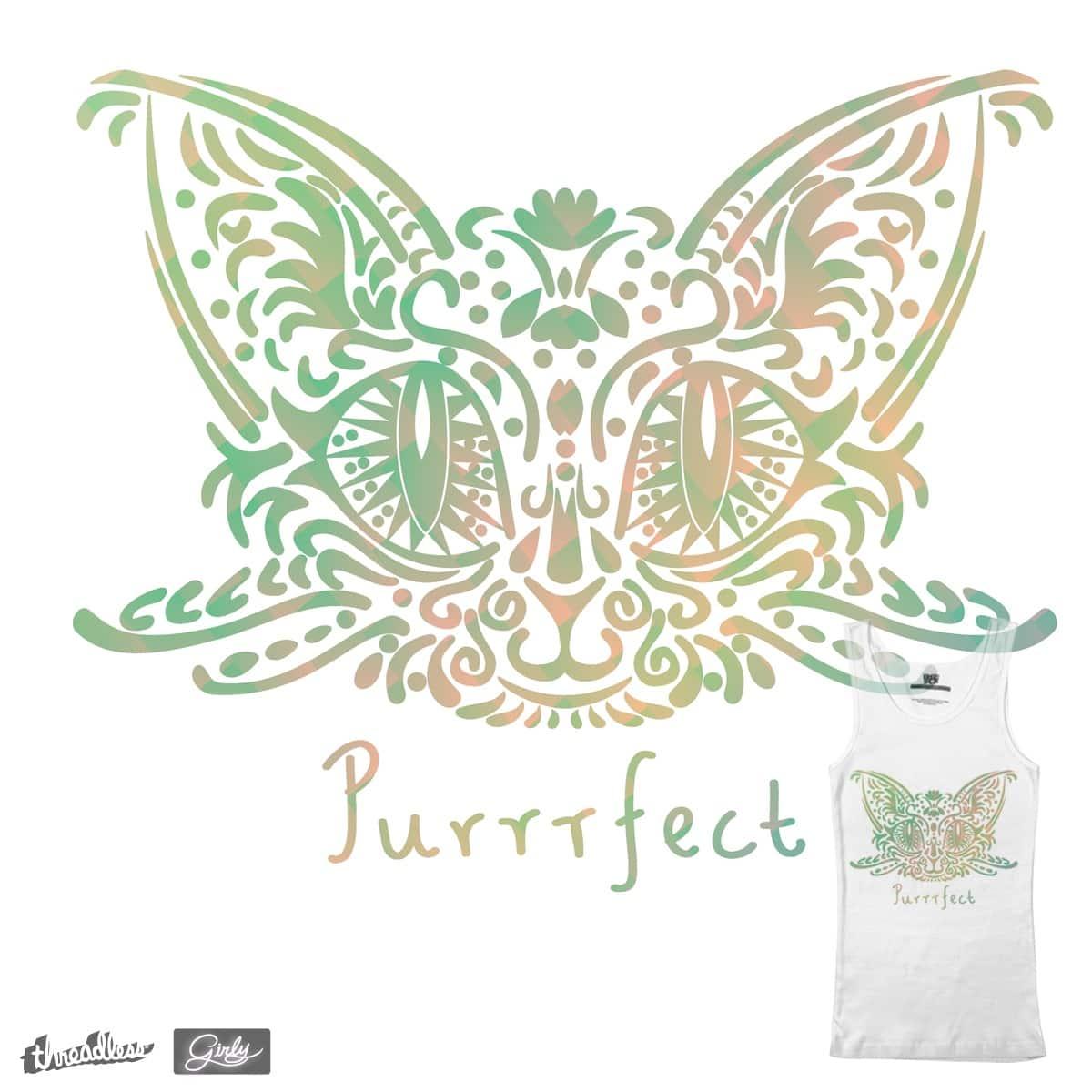 Purrrfectly Girly by m.ninfa on Threadless