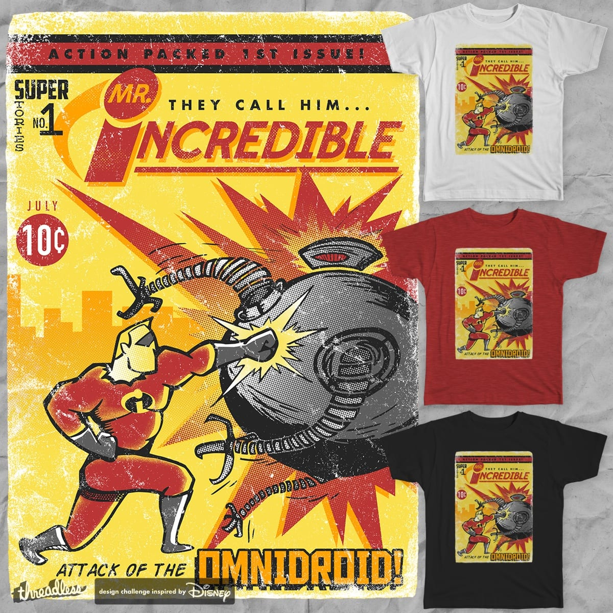Action Packed 1st Issue! by mofugger69 on Threadless