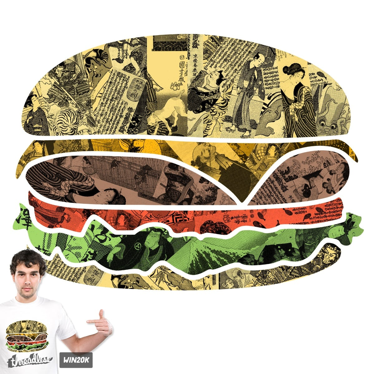 The Rising Burger by Goto75 on Threadless