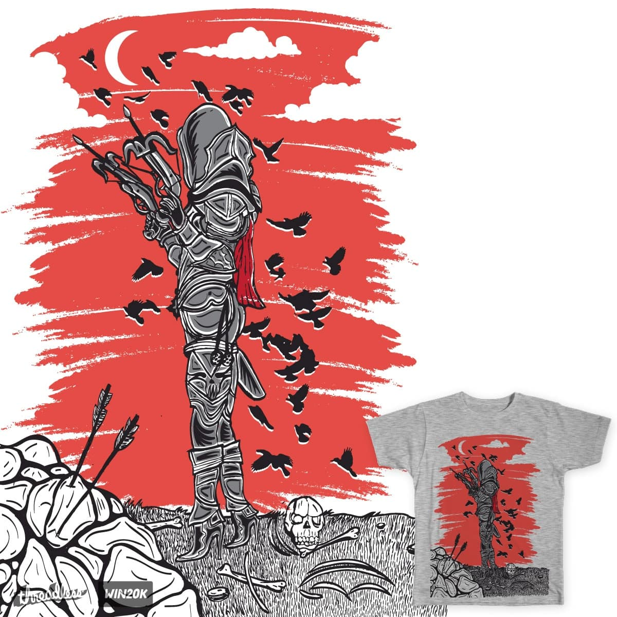 Demon Red Skies by daletheskater on Threadless