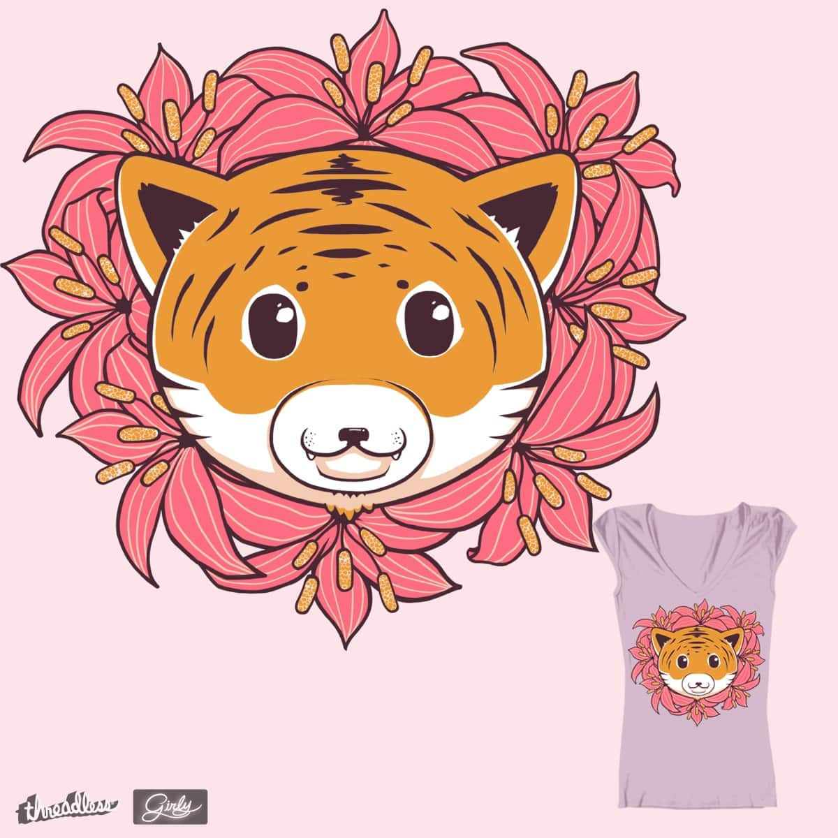Tiger Lilies by 7Ninja on Threadless