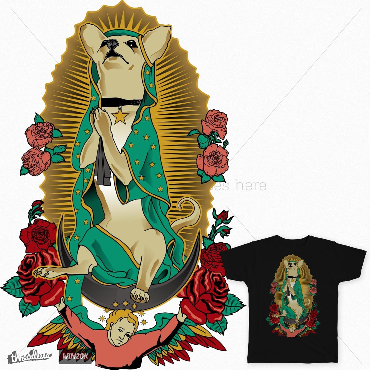 Our Lady of Guadapoochie by dianabeast on Threadless
