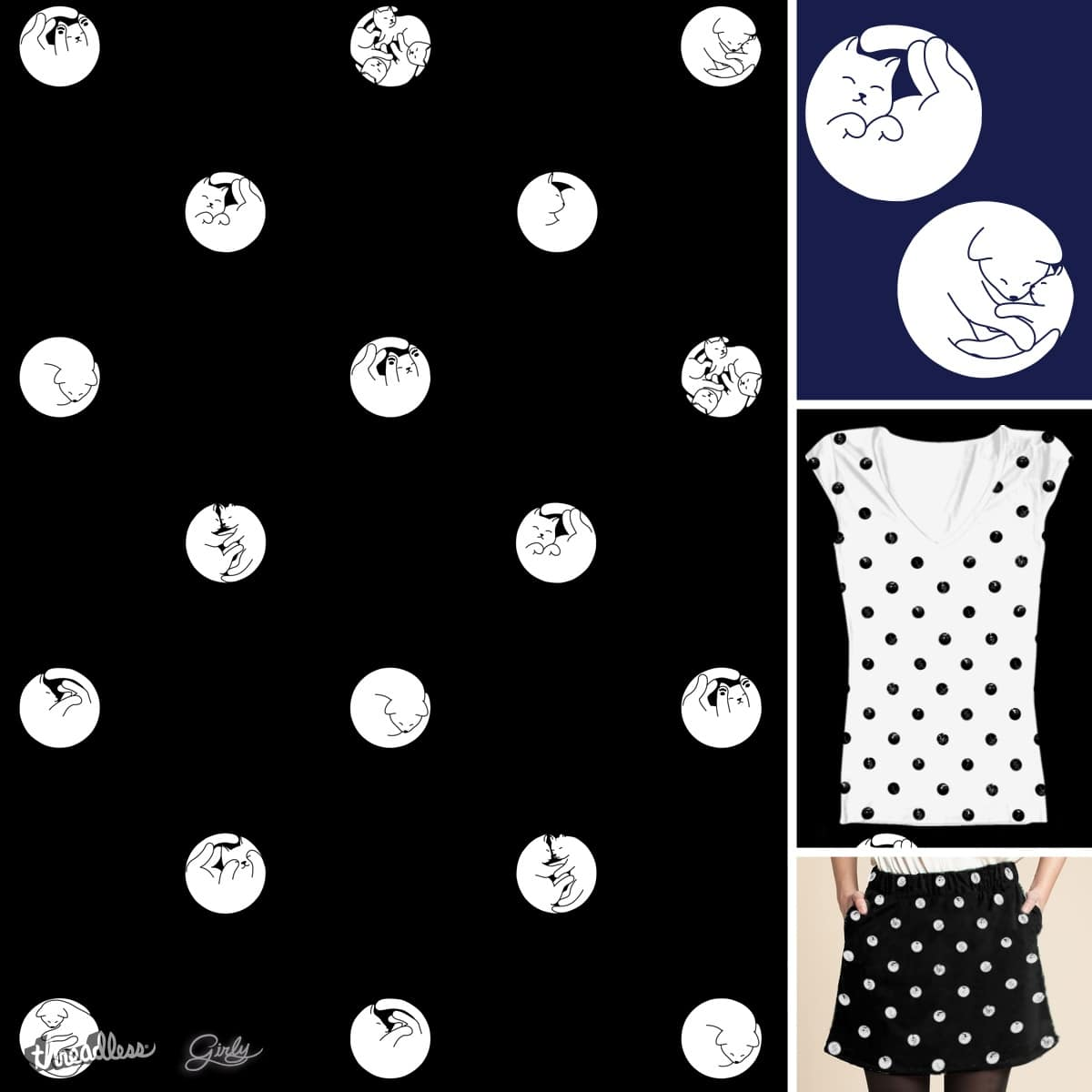 Sleeping Cats by Oikiden on Threadless