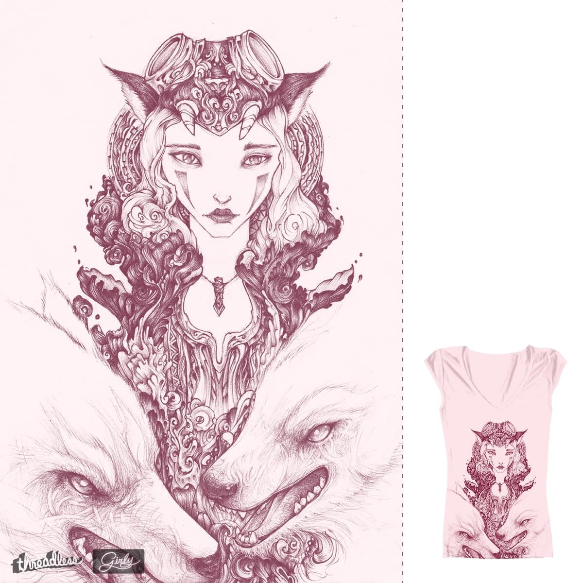 Wolf Princess by tritieks on Threadless