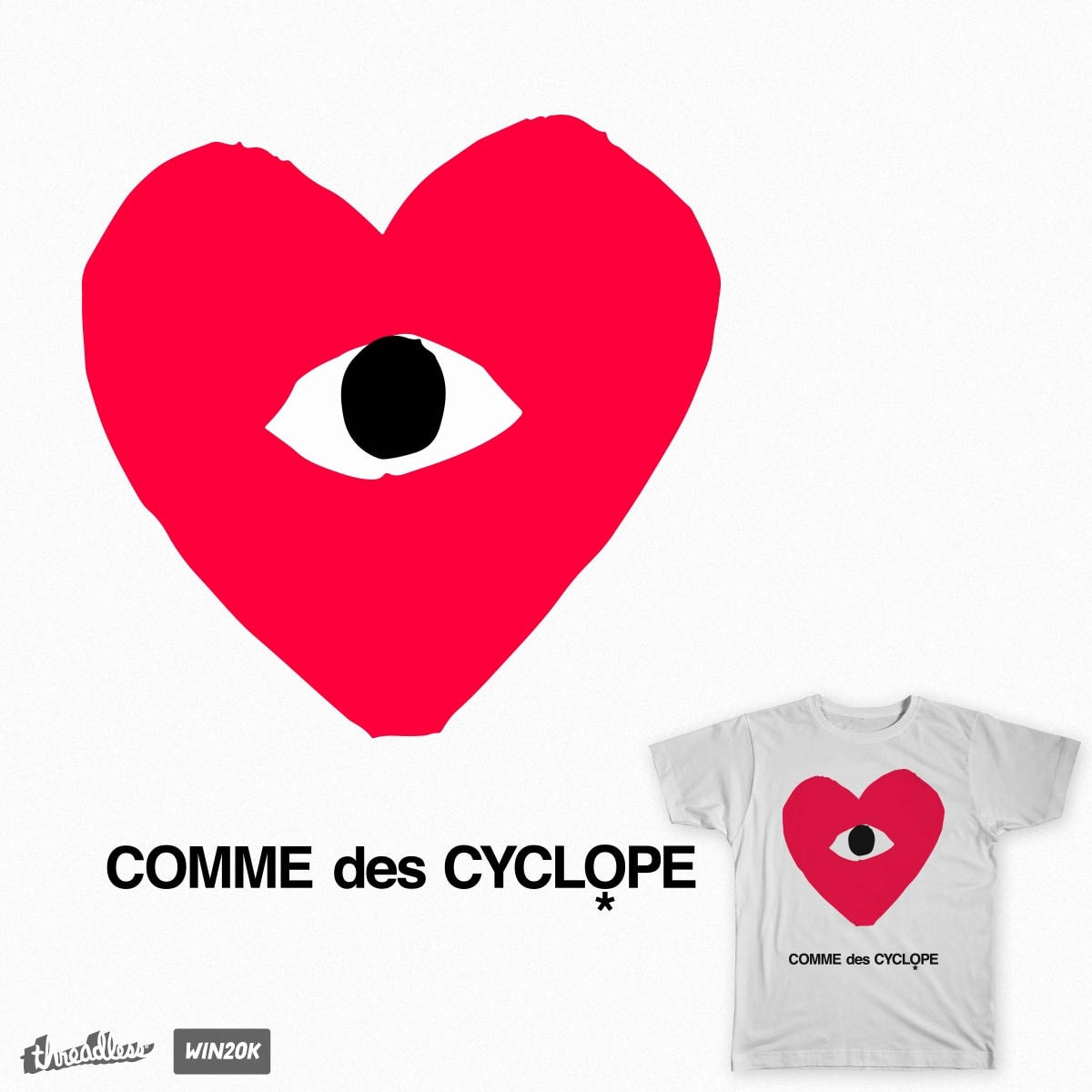 COMME_des_CYCLOPE by izzycon on Threadless