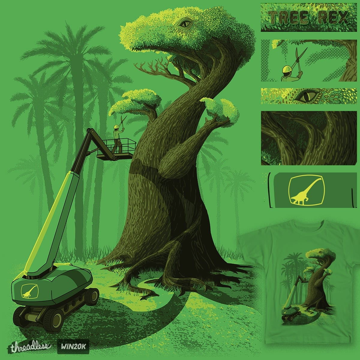 Tree Rex by Neight-Bit on Threadless