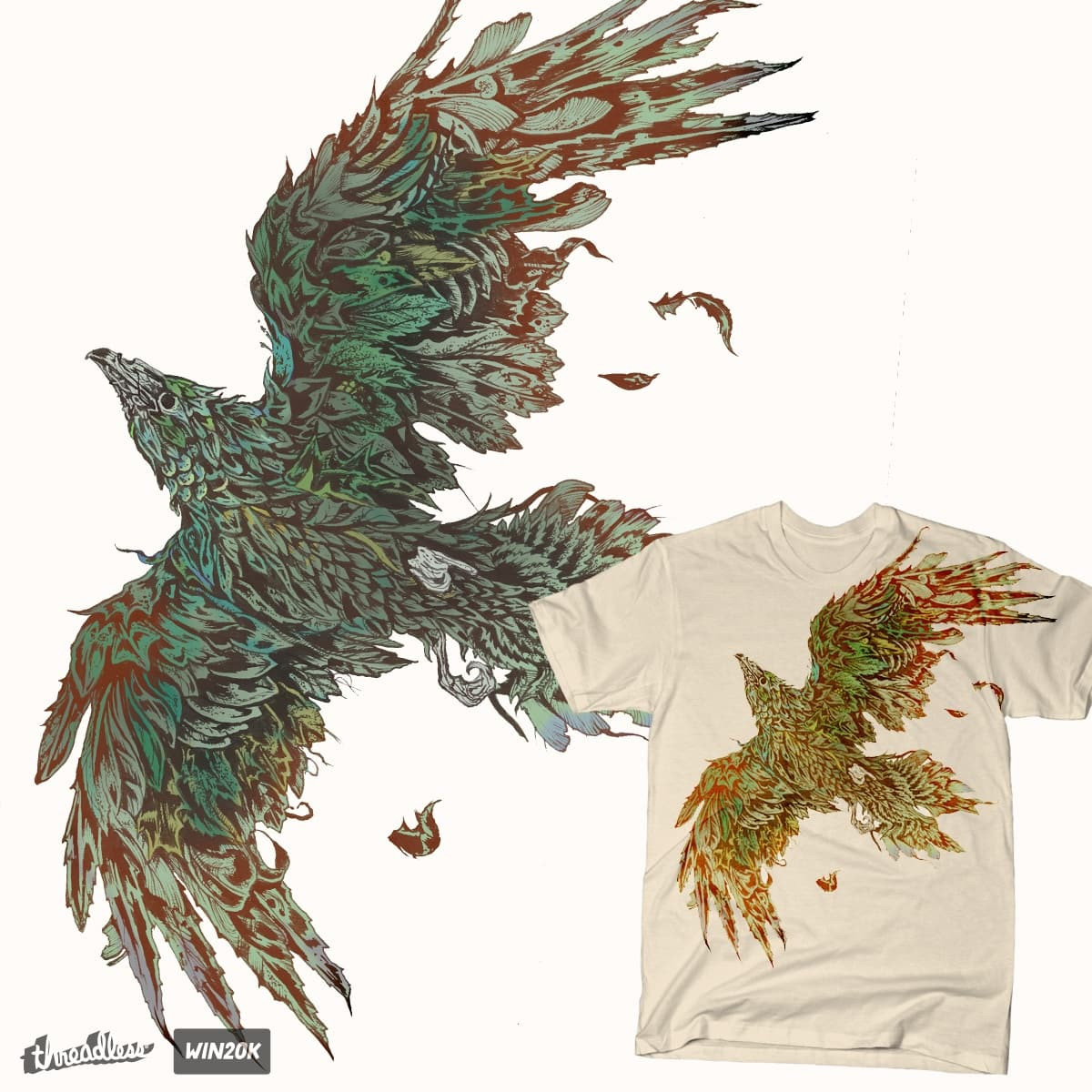 Forest Takes Flight by JonHabens on Threadless
