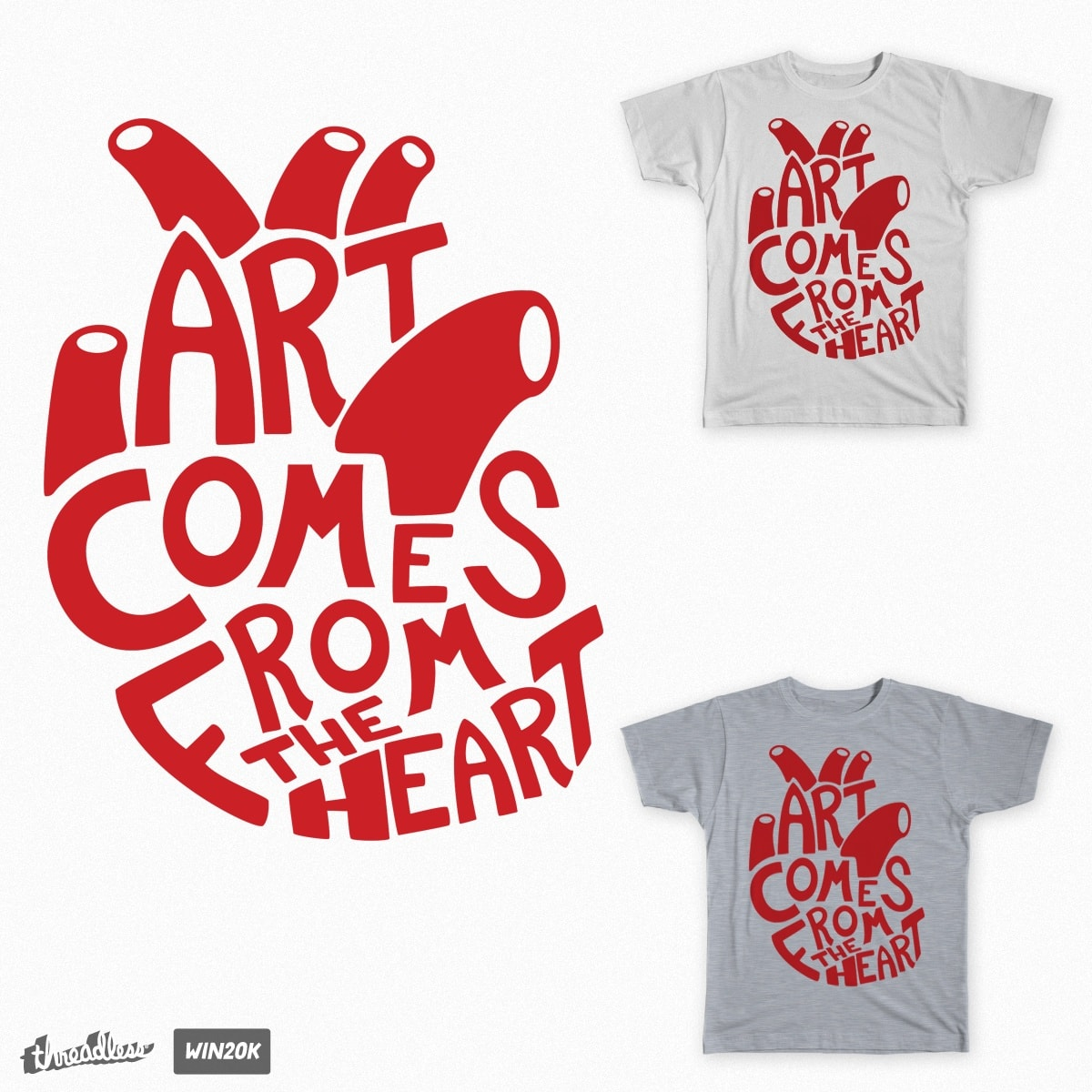 Art Comes From The Heart by Autexousious on Threadless
