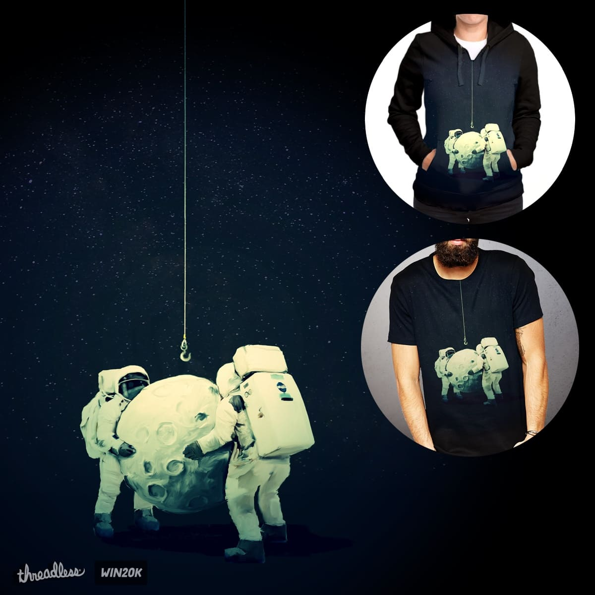 Hanging the moon by levman on Threadless